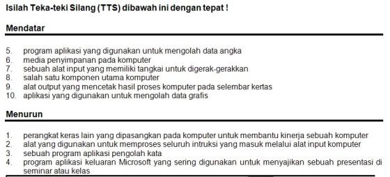 Gbr.1 Contoh Soal TTS TIK